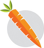 Illustration art of a carrot with isolated background