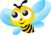 Illustration art of Bee logo with isolated background