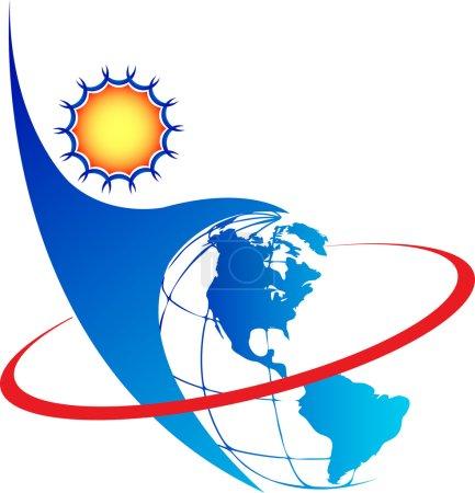 Illustration for Illustration art communication logo with isolated background - Royalty Free Image