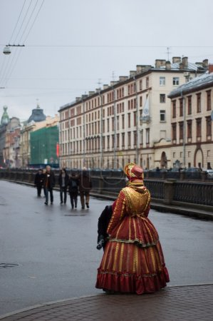 Lady in historical costume