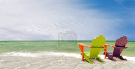 Miami Florida colorful panorama summer scene
