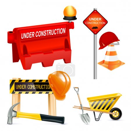 Illustration for Under construction icons - images can be re-size to any limit - Royalty Free Image