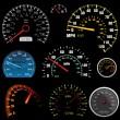 Set of car speedometers for racing design - image ...
