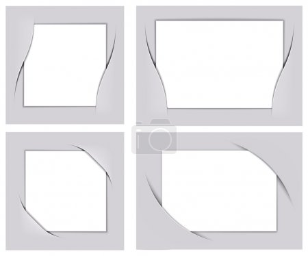 Illustration for Photo frame corners set vector, image can be re-size to any limit - Royalty Free Image