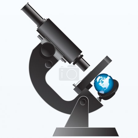 Illustration for Earth under the Microscope - illustration - Royalty Free Image