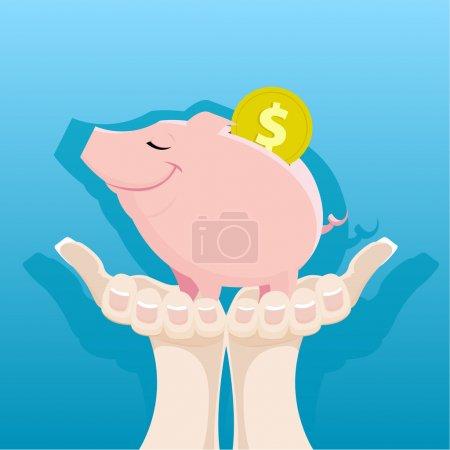 Piggy Bank in the women's hands