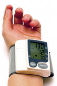 Sphygmomanometer and arm 03