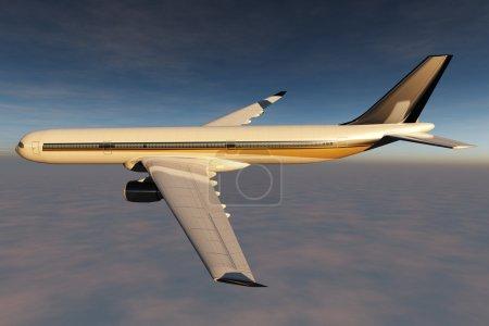 Airplane Flying 3D render