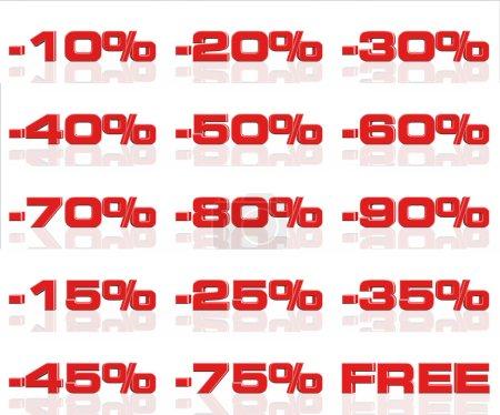 Photo pour Discount vente - image libre de droit