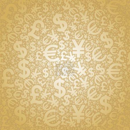 Photo pour Personnages de fond transparente des monnaies du monde - image libre de droit