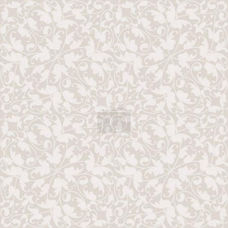 Illustration for Seamless vector wallpaper or background,floral texture - Royalty Free Image