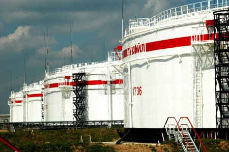 Russian oil production. LUKOILOil Company, NORSI Refining Factory