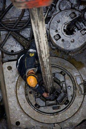 North of Russia. Jamal region. Drilling rig working on gas field