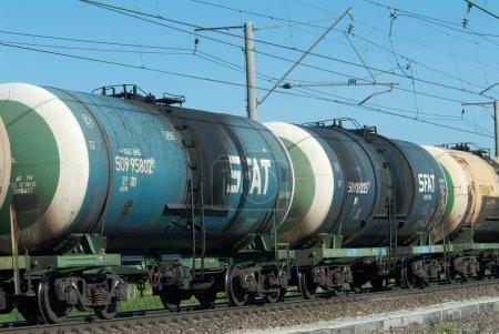 Crude oil tank truck train