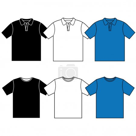 Vector T-shirt polo.