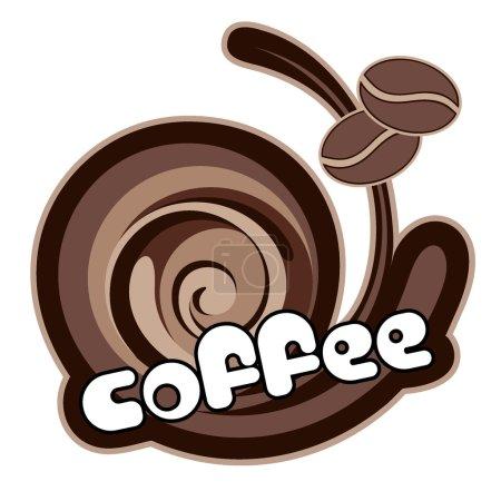 Illustration pour Du café. Illustration vectorielle . - image libre de droit