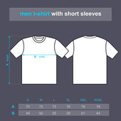 Men t-shirt with short sleeves.