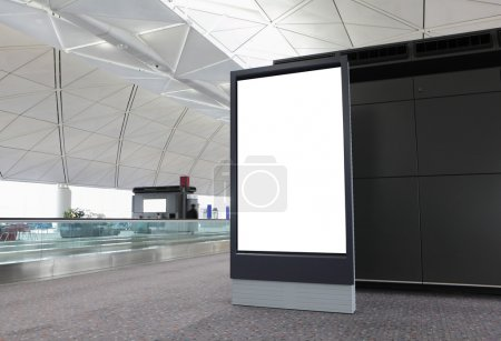 Photo for Blank Billboard in airport at hong kong - Royalty Free Image
