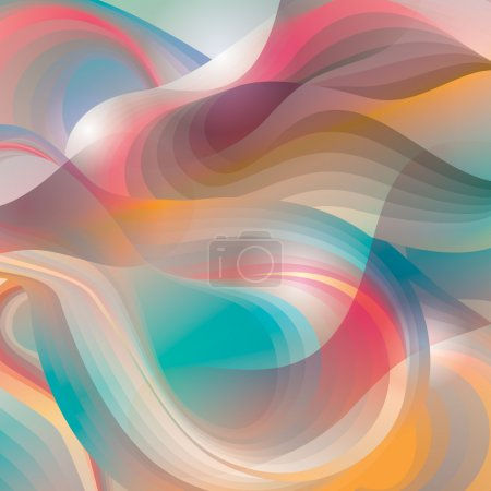 Illustration for Abstract background with transforming shining forms. Vector illustration. - Royalty Free Image