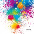 Background with colorful spots and sprays on a whi...