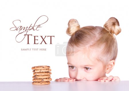 A cute looks at a pile of cookies