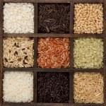 Rice nine varieties in printers box, jasmine, wild...