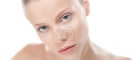 Skincare concept - beauty woman with perfect skin