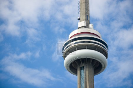 Close up of Toronto CN Tower