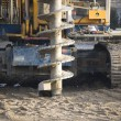 Drilling machine on construction site / industrial...