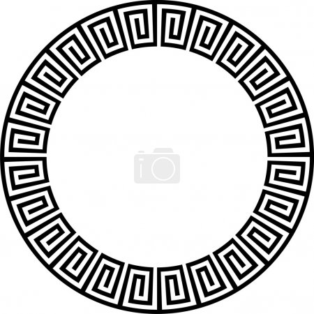 Black & white circular ancient Aztec type design