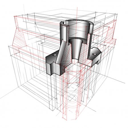 3D driwing of metallic part (visual aids)