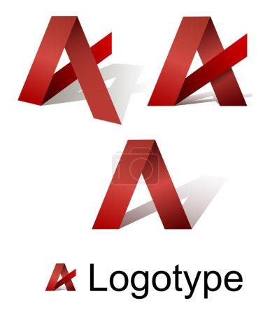 Illustration for Vector Image Logo letter A - Royalty Free Image