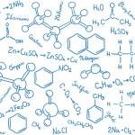 Chemistry background - molecule models and formula...