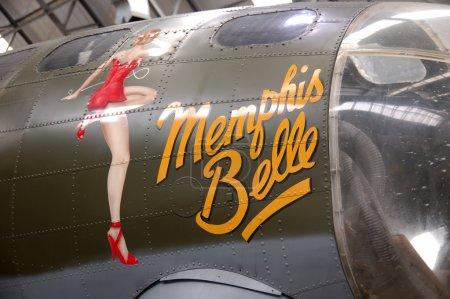 Photo pour Détail d'un bombardier Boeing B17 au musée Duxfordf - image libre de droit