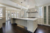 Modern kitchen in new construction home