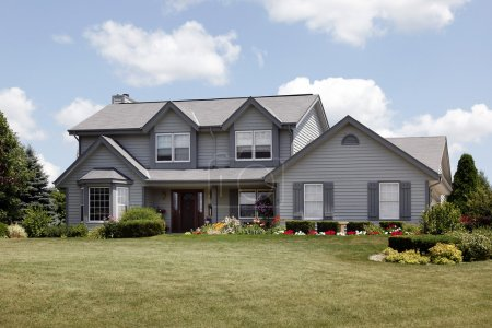 Home with gray siding