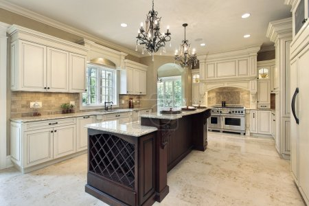 Kitchen in new construction home with double deck ...