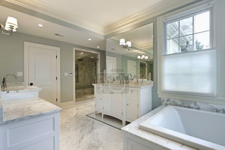 Large master bath in luxury home