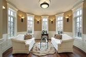 Living room with lighting scones
