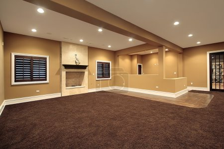 Photo for Lower level family room in new construction home - Royalty Free Image