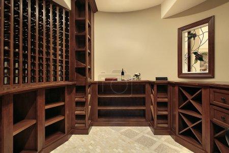 Wine cellar in luxury home