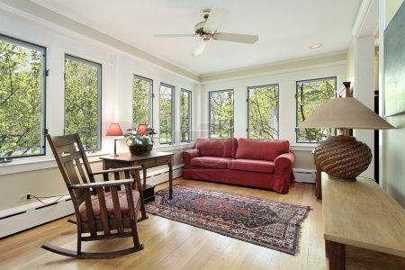Den in suburban home