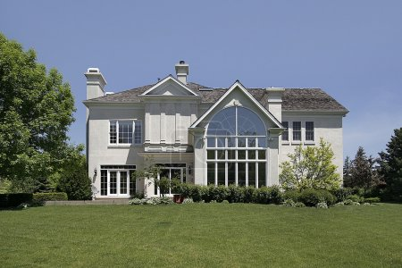 Luxury rear view of home