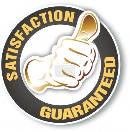 Photo pour Satisfaction garantie signe avec marque à l'intérieur - image libre de droit