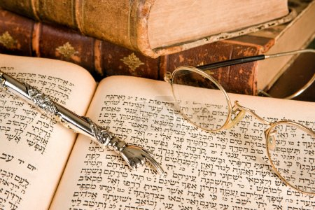 Torah pointer and glasses