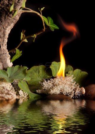 Photo pour Eau, air, terre et feu sont les quatre éléments - image libre de droit