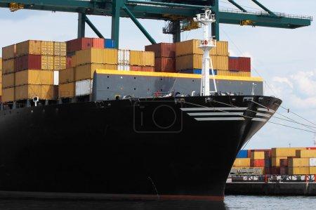 Container ship closeup
