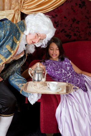 Serving tea for the Lady