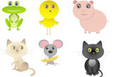 Set of funny cartoon animals for your design