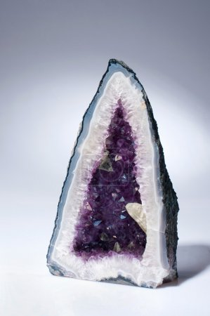 A beautiful amethyst geode also known as amethyst-...